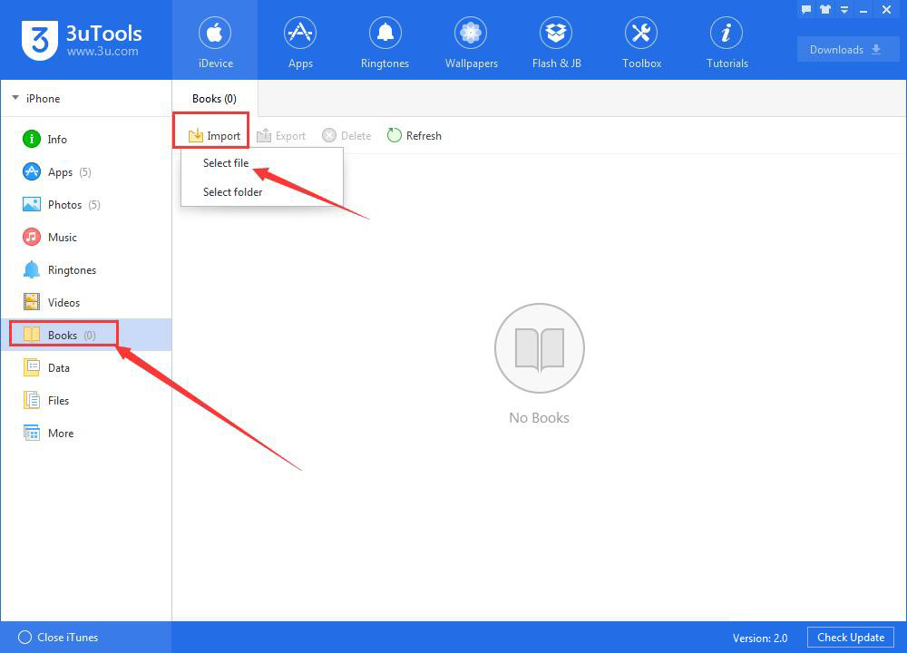 How to Manage Books Using 3uTools?