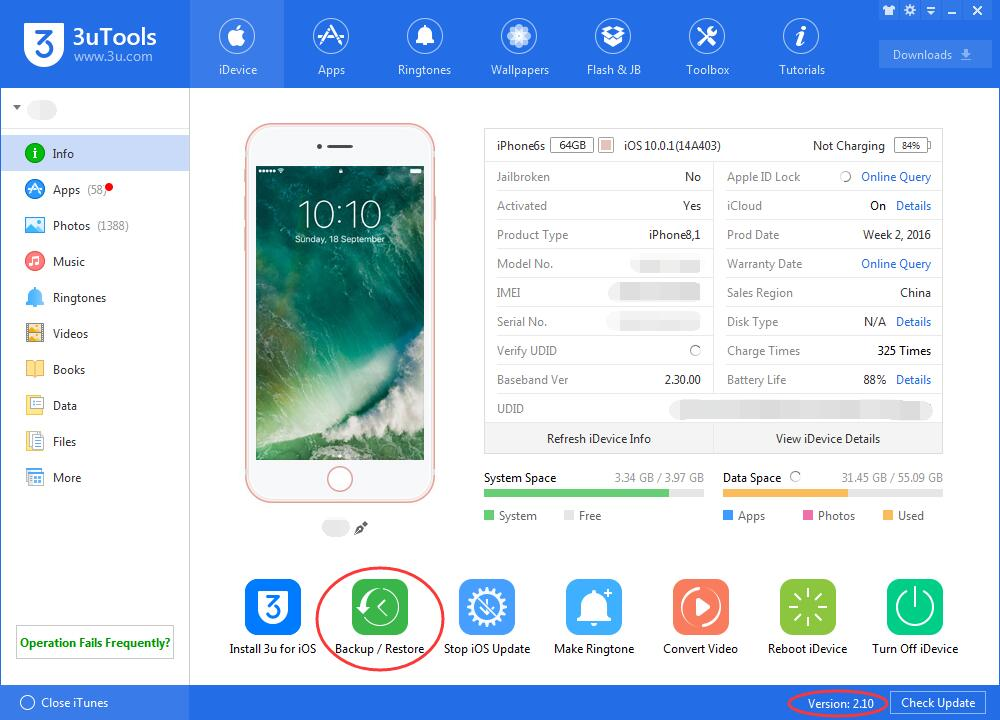 How to Use 3uTools to Back Up Your iPhone Before Installing latest iOS?