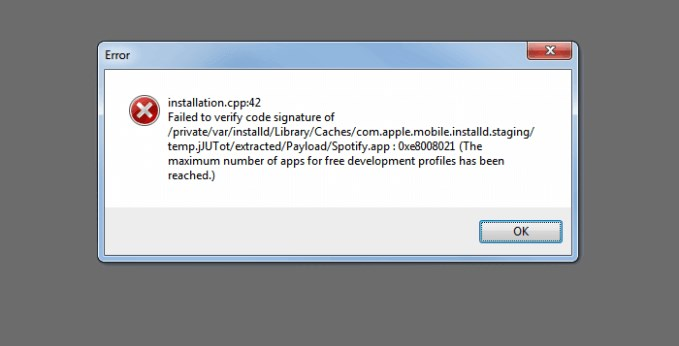How to Fix Cydia Impactor Installation Cpp:42 Error?
