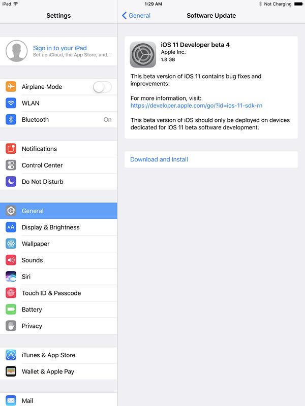 Upgrade to iOS 11 Beta 4 on 3uTools