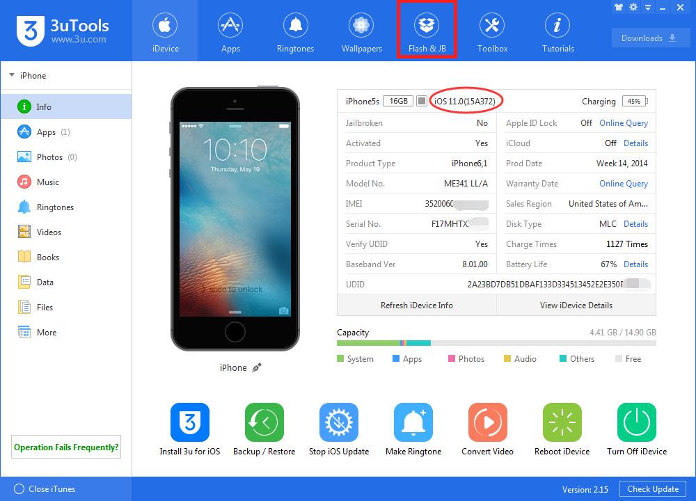 How to Downgrade iOS 11 Final Back to iOS 10.3.3 Using 3uTools?