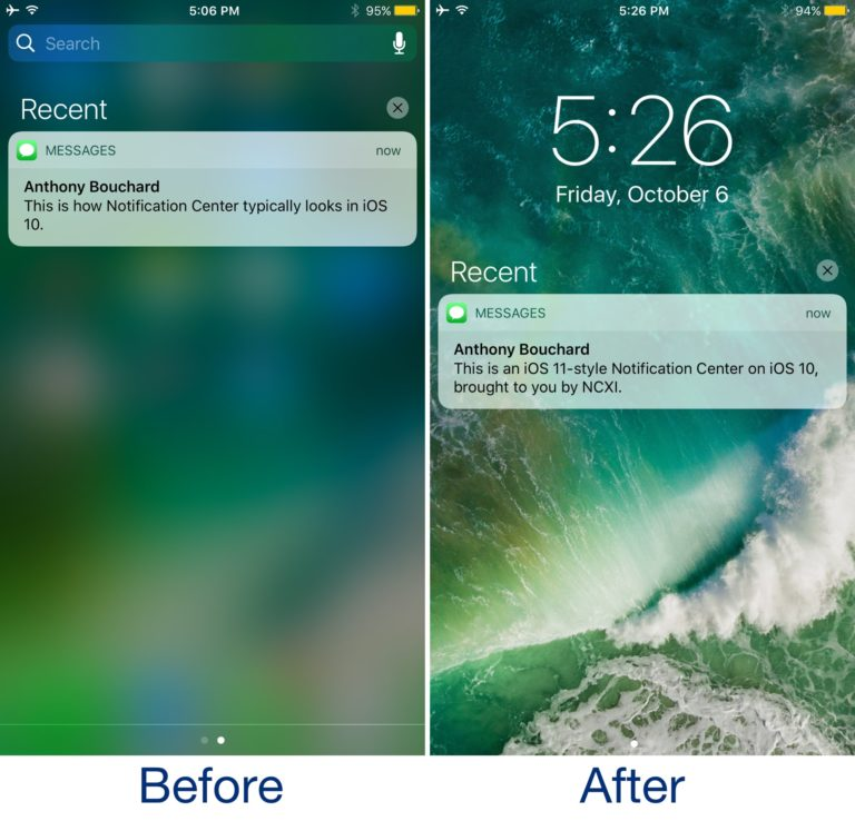 This Tweak Brings the iOS 11 Notification Centre to Jailbroken iOS 10