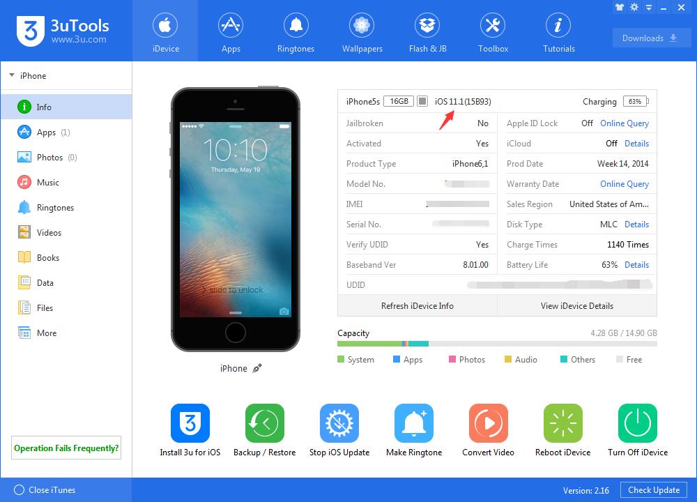 Easy Flash to Public iOS 11.1 using 3uTools
