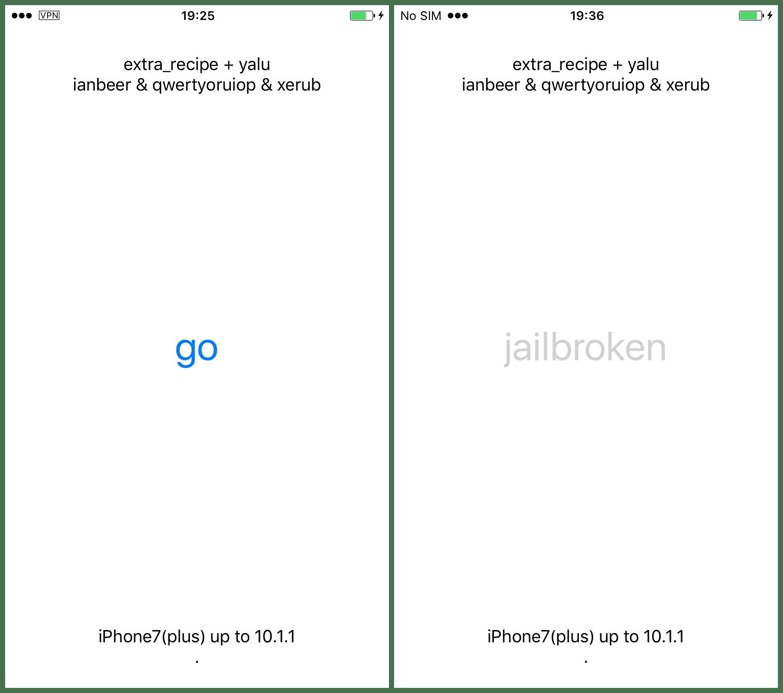 How to Jailbreak iPhone 7 /7 Plus on iOS 10.0.1-10.1.1 With Extra_Recipe?