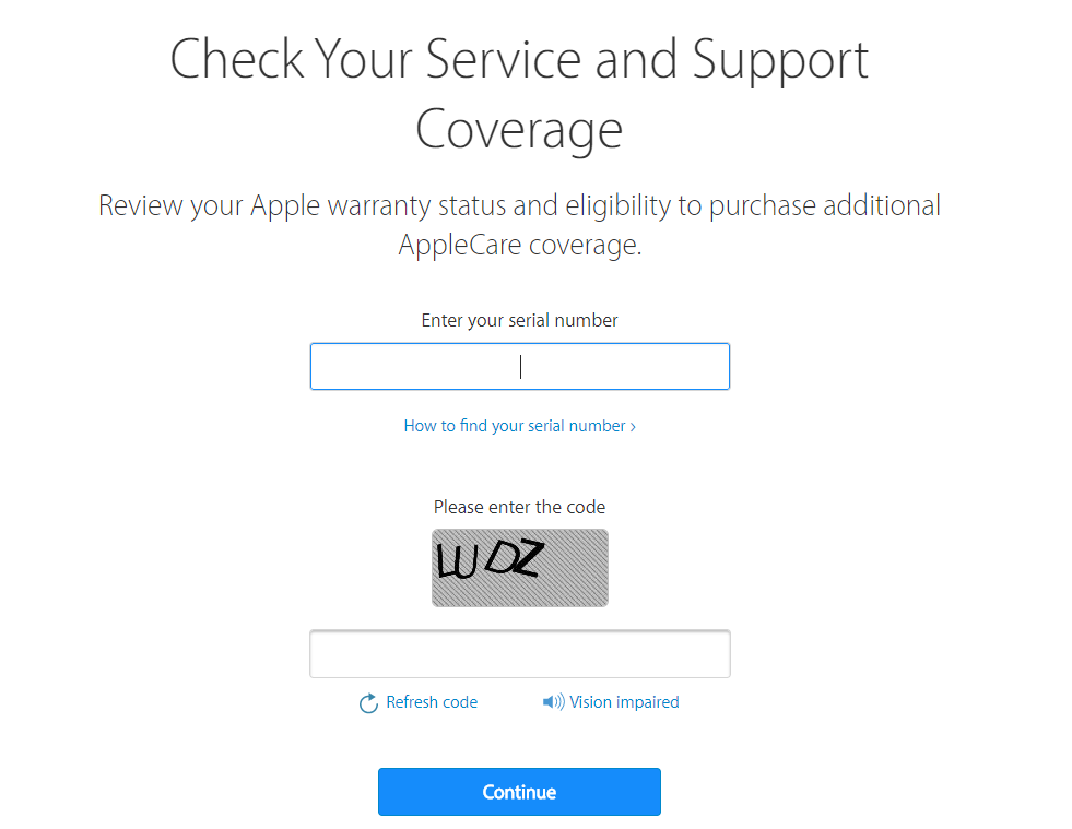Apple's Warranty Coverage Check Website Briefly Demanded Apple ID for Access