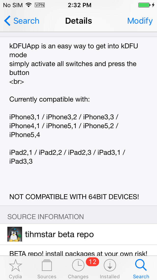 Downgrade 32-bit Devices to Any iOS Version With SHSH