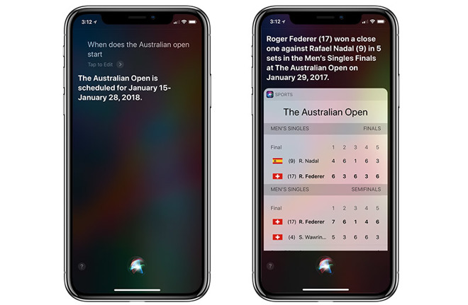 Siri Adds Tennis and Golf Data Integration Ahead of Australian Open