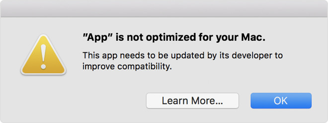 New macOS Alert Notifies Users Apple Will Soon End 32-bit App Support