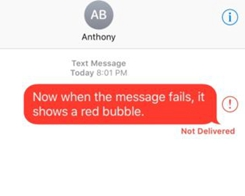 RedFailedMessages Makes it Easier to know a Message Fails to Send