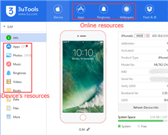 How to Distinguish 3uTools Online Resources, Local Resources & iDevice's Resources?