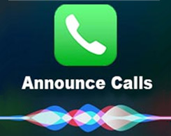 How to Using Siri On iOS 10 to Announce Incoming Calls?