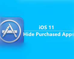 How to Hide Purchased Apps on iOS 11?