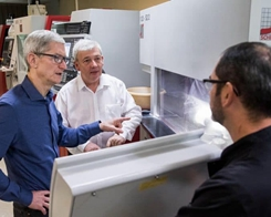 Tim Cook Visits iPhone X Component Supplier in Normandy