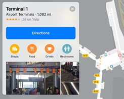 Apple Maps Tallies Up More Airport Interiors