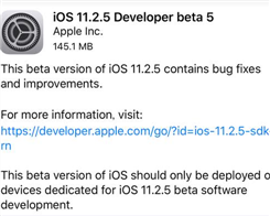 Apple Releases Fifth iOS 11.2.5 Beta For iPhone And iPad