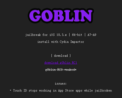 G0blin iOS 10.3.3 Jailbreak IPA Officially Released