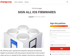 Apple Is Asked to Sign All iOS Firmwares After Reopen Some iOS Firmwares