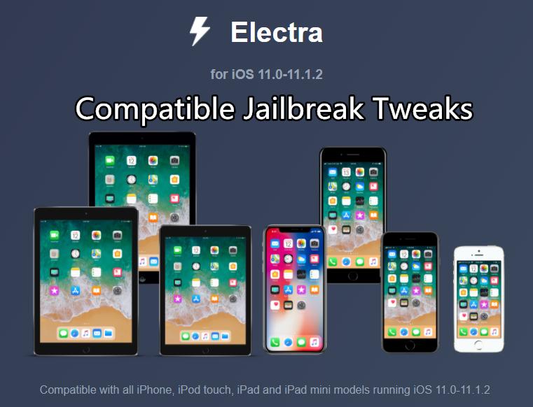 iOS 11 – iOS 11.1.2 Compatible Jailbreak Tweaks And Apps