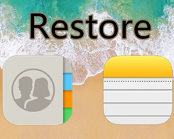 How to Restore Contacts / Notes From Damaged Backup Files?