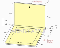 Apple Granted a Patent for a Dual Display MacBook or Second Generation iPad Pro
