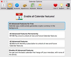 Mac App Store App 'Calendar 2' Mines Cryptocurrency by Default, but Feature is Being Removed