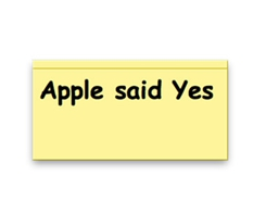 Story: Wife Says No, Apple Says Yes