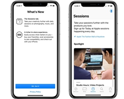 Apple Store App for iOS Adds 'Sessions' Feature to Improved User's Experience