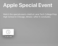 Apple's March 27 Event Won't Be Live Streamed