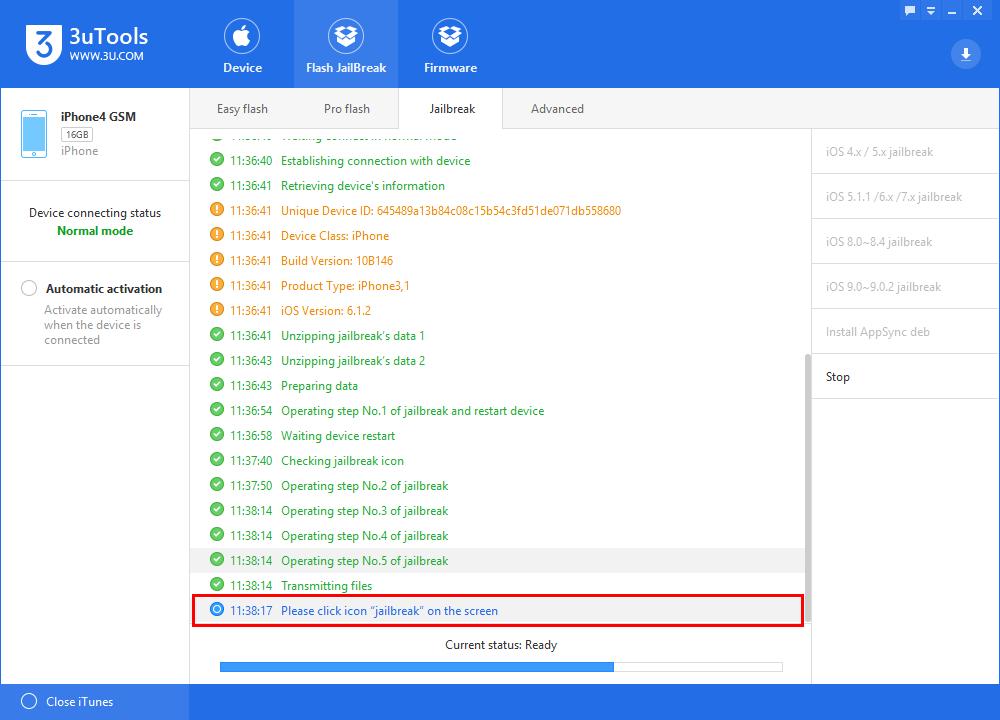 3uTools Jailbreaks iOS6.0~6.1.5 Untethered Tutorial