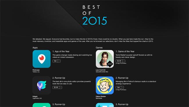 Apple's Best 25 iOS Apps of 2015