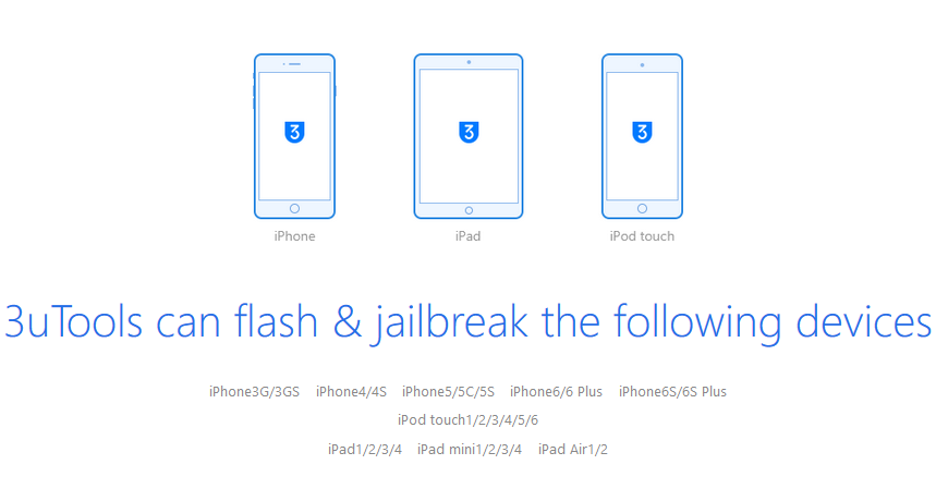 3uTools is a Collection of Useful Tools Jailbreaking and Flashing Your iOS Devices