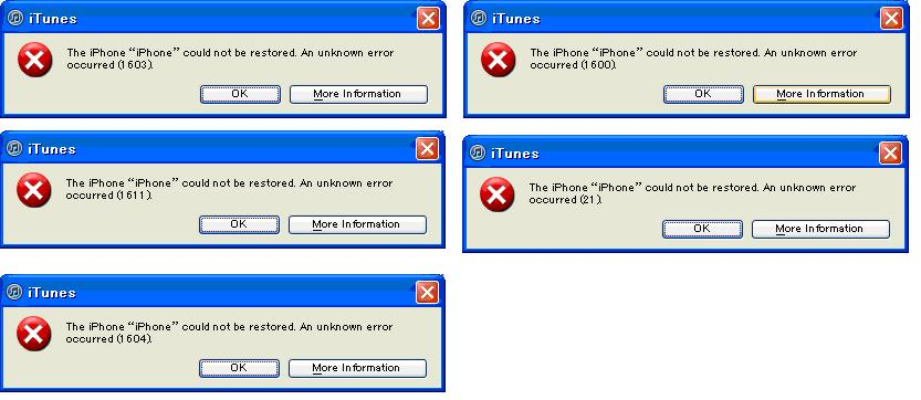 Detailed Solutions for Apple iPhone, iPad, iPod touch iTunes errors (2)