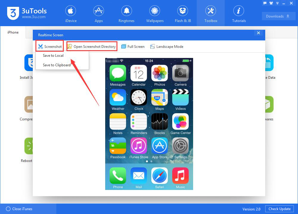How to View iPhone's Realtime Screen  Using 3uTools?
