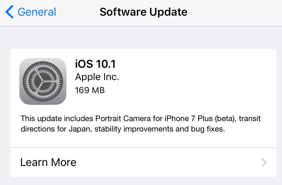 What Is Included In The Update In Apple iOS10.1?
