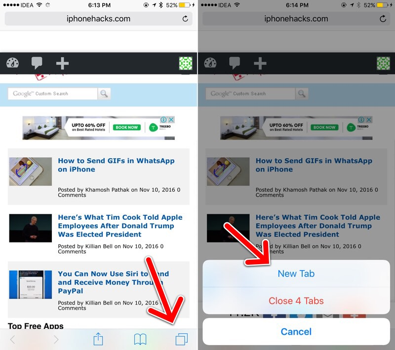 2 Ways to Quickly Open A New Tab in Safari on iPhone