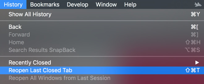 How to Reopen Tabs in Safari for iOS 10 and MacOS Sierra?