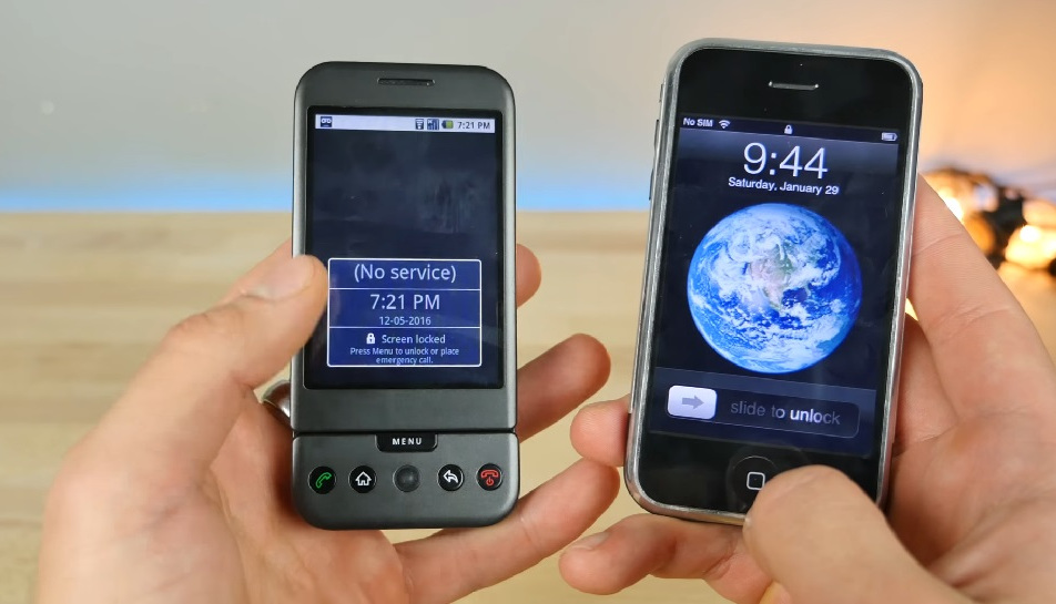 Comparing the Original iPhone Against the Very First Android Device