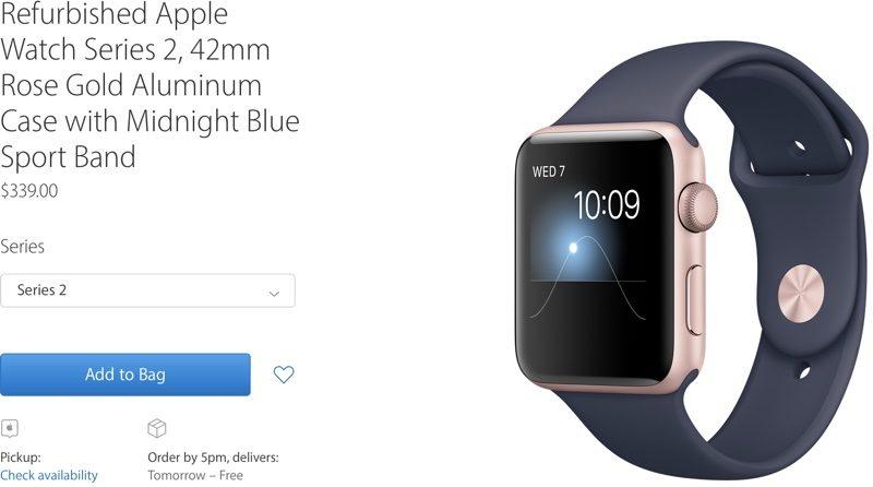 Apple Offering Refurbished Series 1 and Series 2 Apple Watch Models