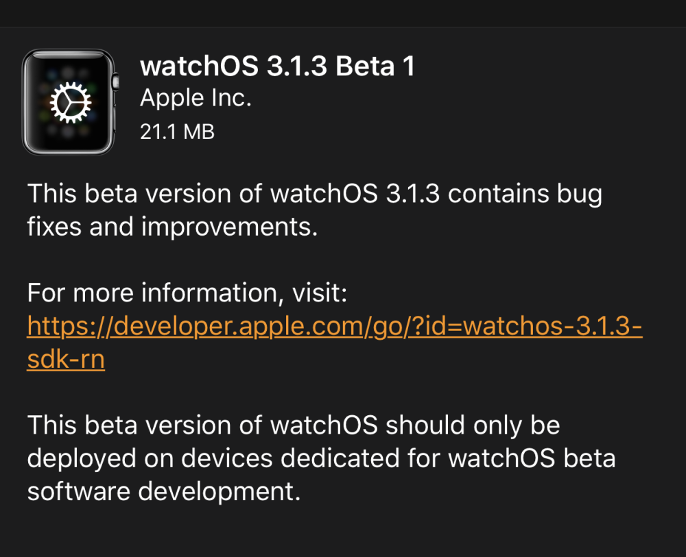 First WatchOS 3.1.3 Developer Beta for Apple Watch Now Available