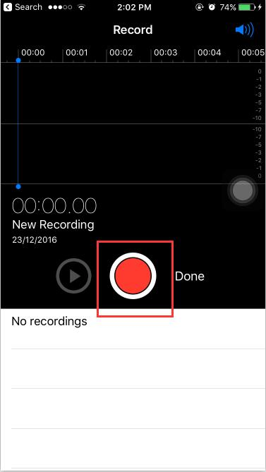 How to Record A Voice Memo on iPhone 6s Plus?