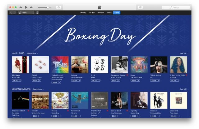 Apple launches iTunes Boxing Day sales