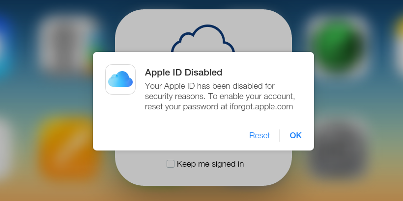 Apple ID Has Been Disabled?