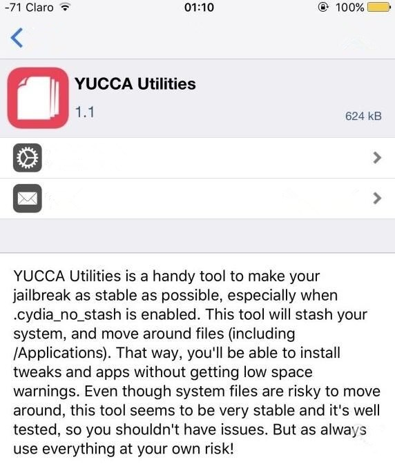 Father of Cydia Recommended Not to Install YUCCA Utilities on iDevice