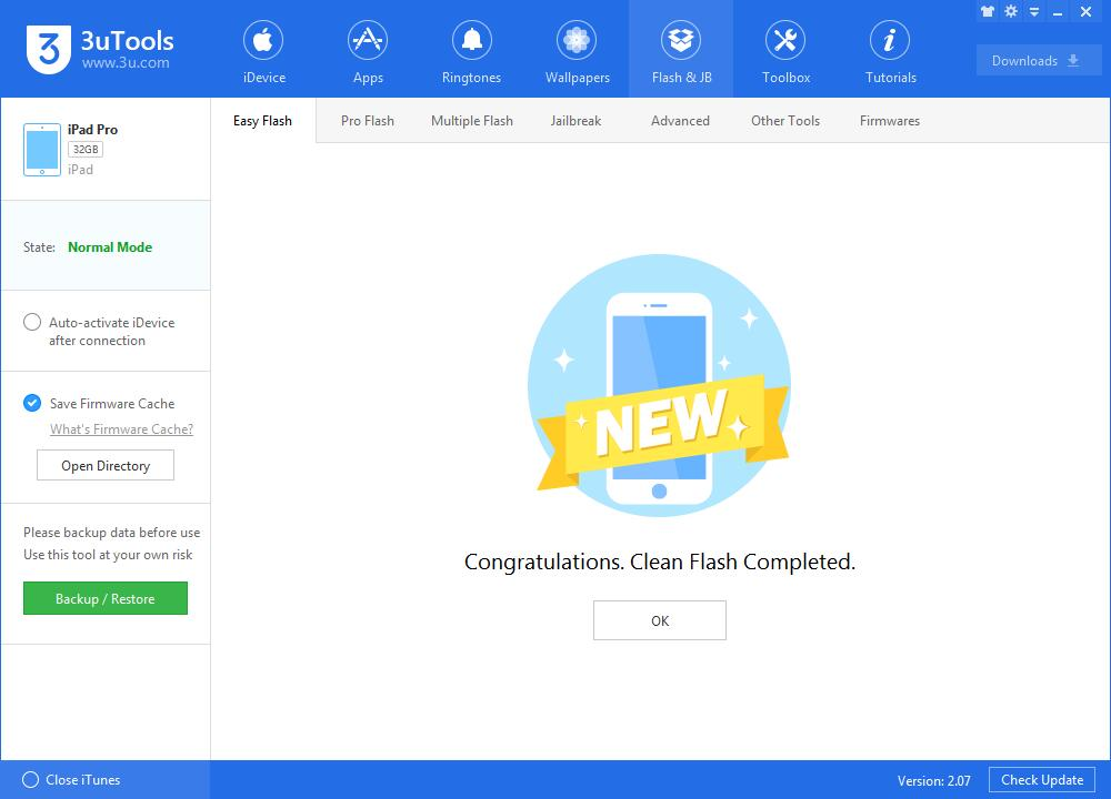 How to Upgrade iDevice to iOS 10.2.1 Beta 4 Using 3uTools?