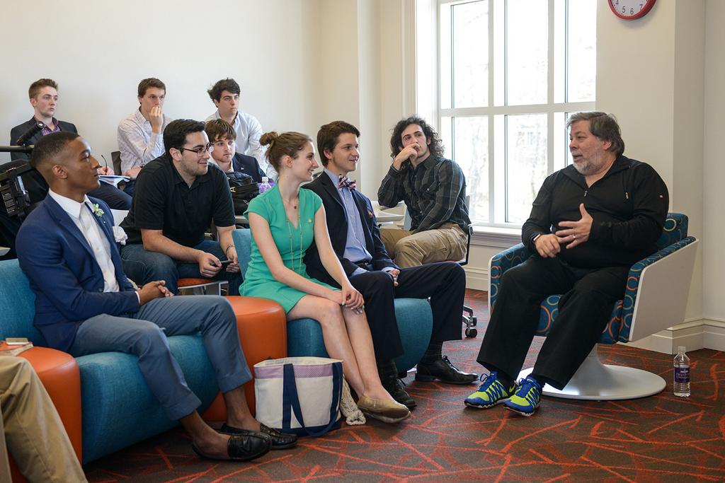 Apple Co-founder Steve Wozniak Speaks at Augsburg