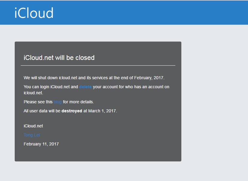 Apple Purchases iCloud.net Domain Name Which Will be Closed in This Month