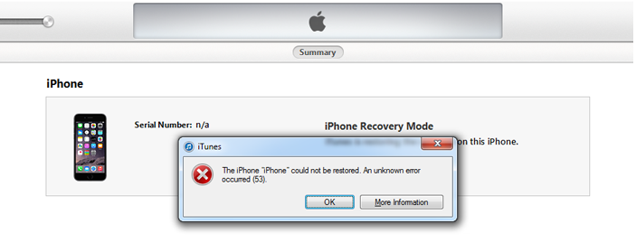 How To Fix iTunes Error 53?