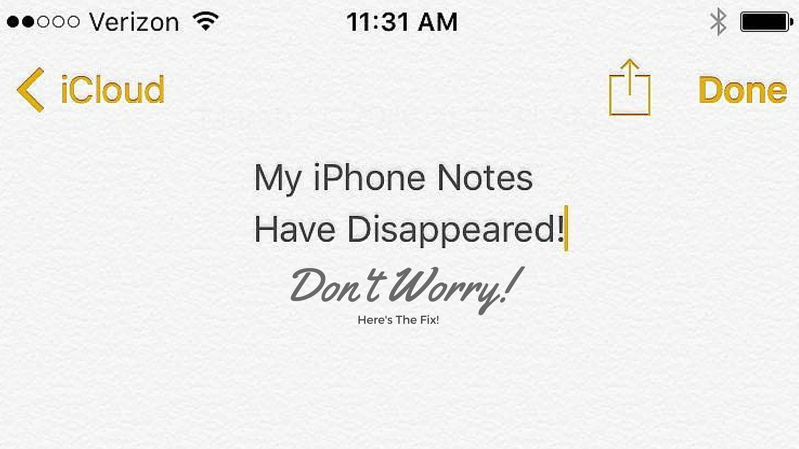 Notes Disappeared from iPhone 7/7 Plus? Here's How to Fix It