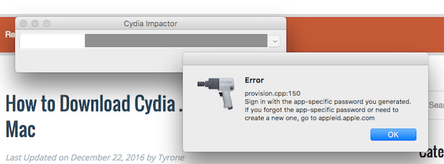 How to Fix Cydia Impactor Errors When Jailbreaking iOS 10.1 – 10.2 With Yalu?