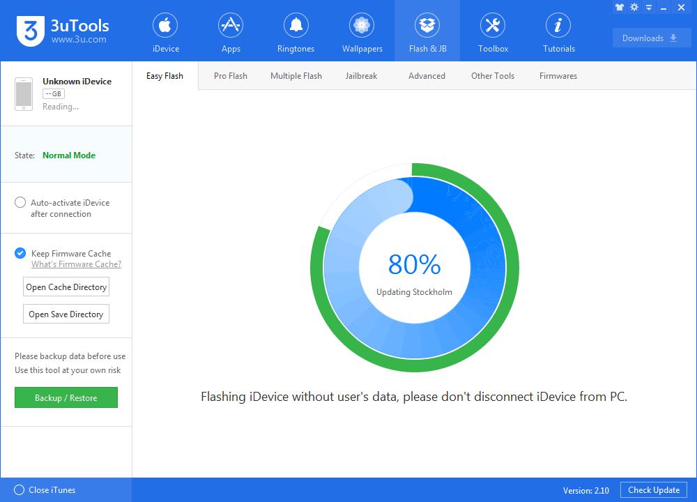 Upgrade iDevice to iOS10.3.2 Beta1 Using 3uTools